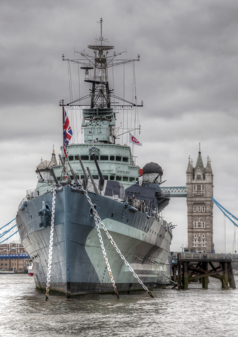 Photograph HMS Belfast and Tower Bridge by Peter Ellison on 500px