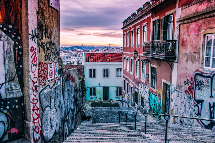 Sunset in Lisbon by Cédric on 500px.com