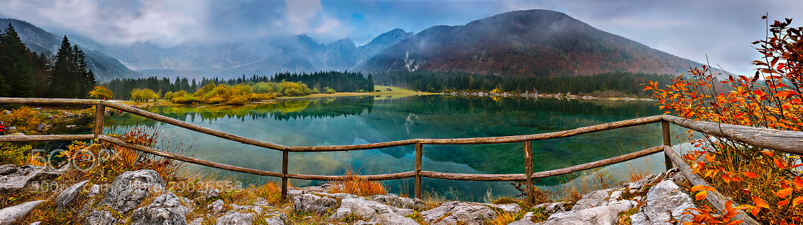 Photograph Lake & mountain pano by Andrej Štojs on 500px