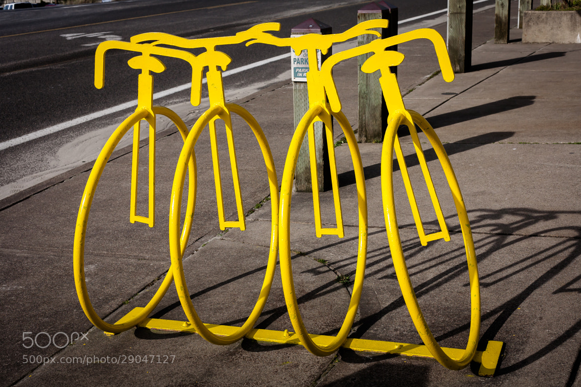 Photograph Bike Bike Stands - Pacific City by Alex Scoble on 500px