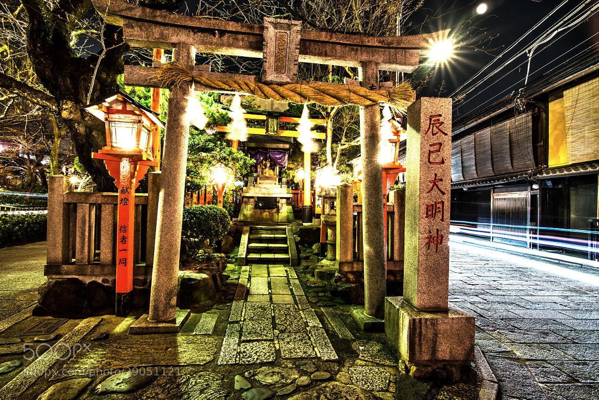 Photograph Lights flow from Gion Shrine by hugh dornan on 500px