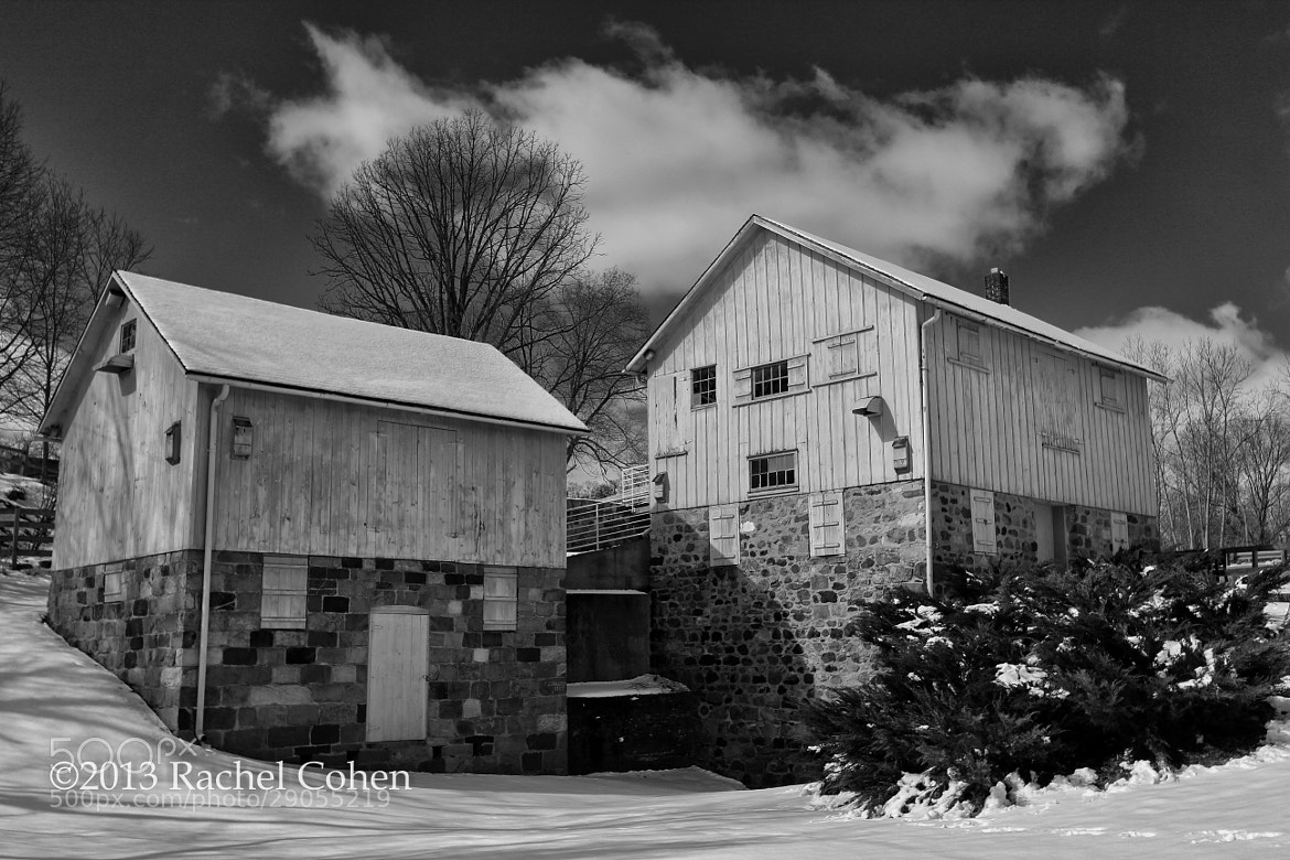 "Photograph ""Parker Mill Divided"" B&W 2 by Rachel Cohen on 500px"