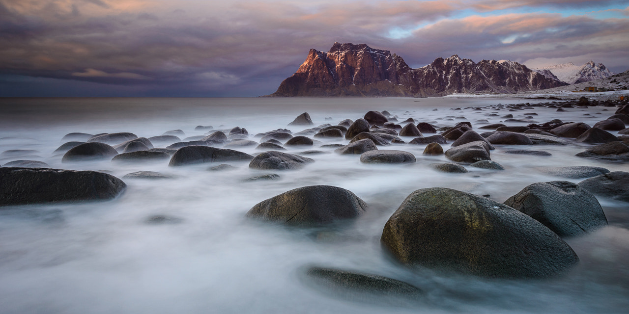 Photograph Last Light, Skagsanden Beach, Flakstadøya, Norway by Ajit Menon on 500px