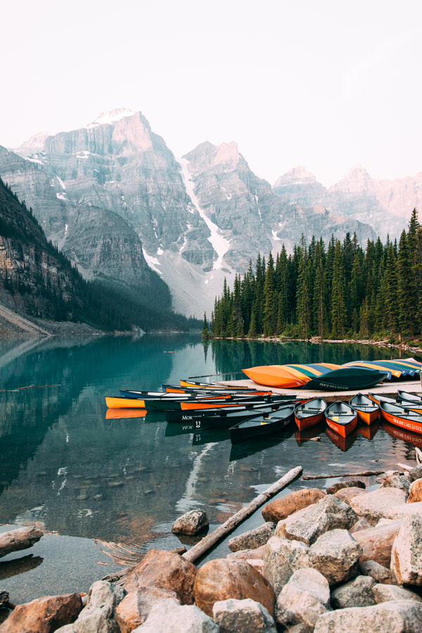 Infamous Moraine Canoes by Aidan Campbell on 500px.com