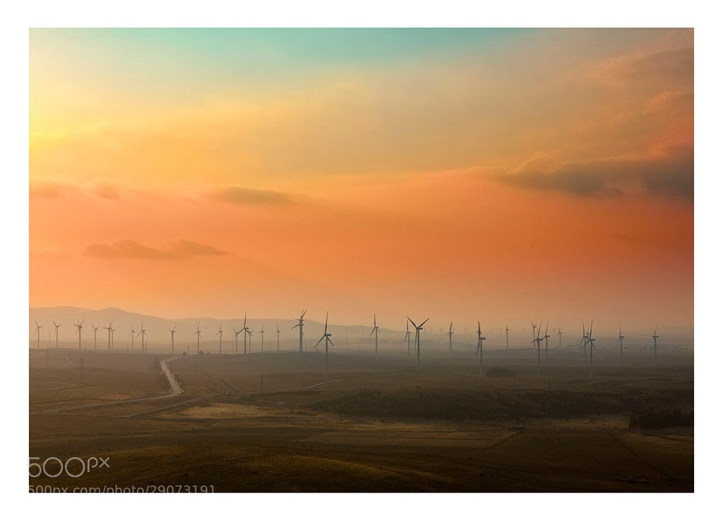 Photograph Wind farm by Curro Cassillas on 500px
