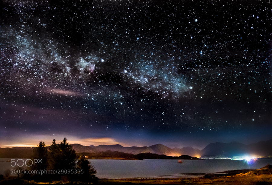 Starscape above Loch Creran, West Scottish Highlands. This is my second attempt at this location after having a try this time last year. I think next time it will be better! Apols for the re-process/re-post.