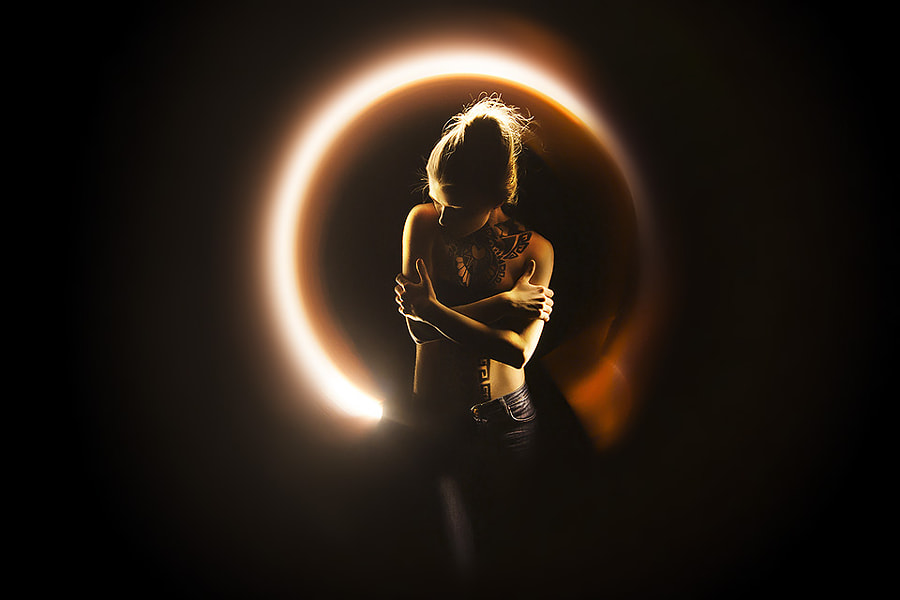 Photograph Lightpainting with Liza Frolova by Eric  Paré on 500px