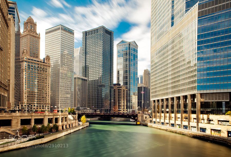 Chicago by the Michigan Ave Bridge