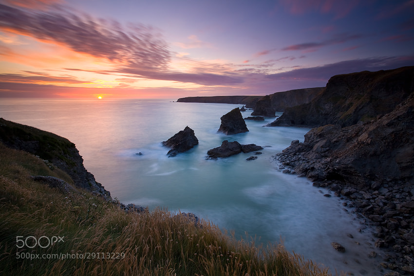 Photograph Bedruthan Steps, Cornwall, England by Russell Pike on 500px