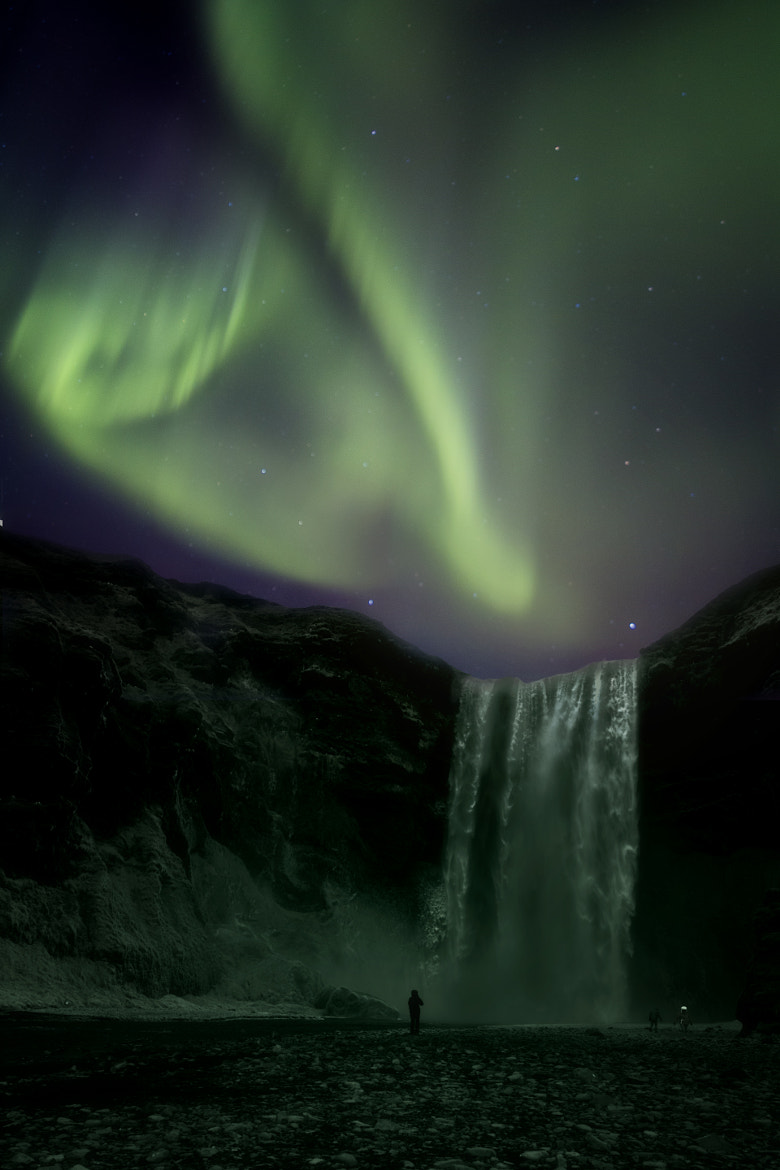 Photograph Aurora over waterfall by Magdalena Warmuz-Dent on 500px