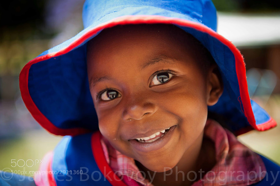 A sweet smile greets me at an orphanage in Zimbabwe.