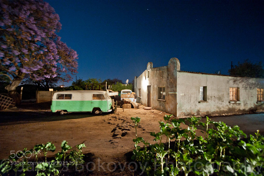 Old VW's parked outside a house in Zimbabwe