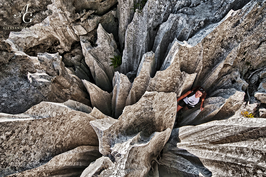 'Terrace of Knives' is probably most striking feature in the amazing Kamena Galerija or Gallery of Rock, a small 'museum' of crazy karst formations on the Velebit mountain, which is itself heavily karstified massif made of limestone.