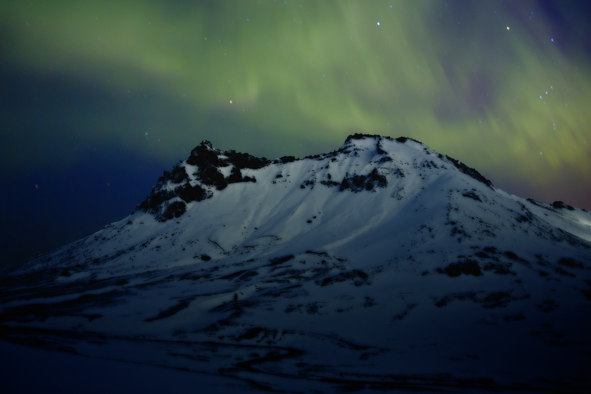 Photograph Aurora in the mountains by Magdalena Warmuz-Dent on 500px