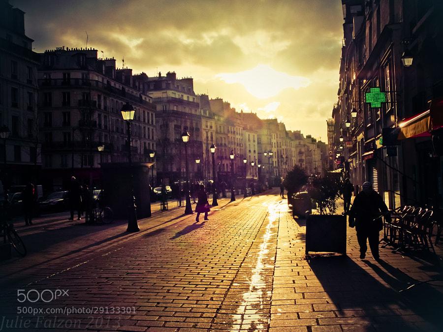 """Paris in """"Le Marais"""" district. March 2013."""