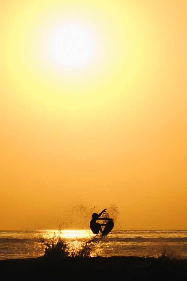 Photograph Sunset surfing by Anders Göranson on 500px