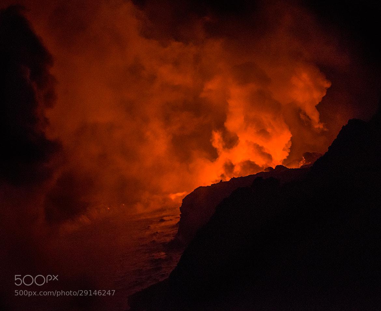 Photograph Lava Ocean Entry by Esten Hurtle on 500px