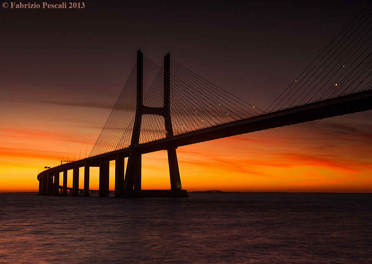 Photograph Vasco da Gama Bridge, Lisbon, Portugal - www.fabriziopescali.com by Fabrizio Pescali on 500px