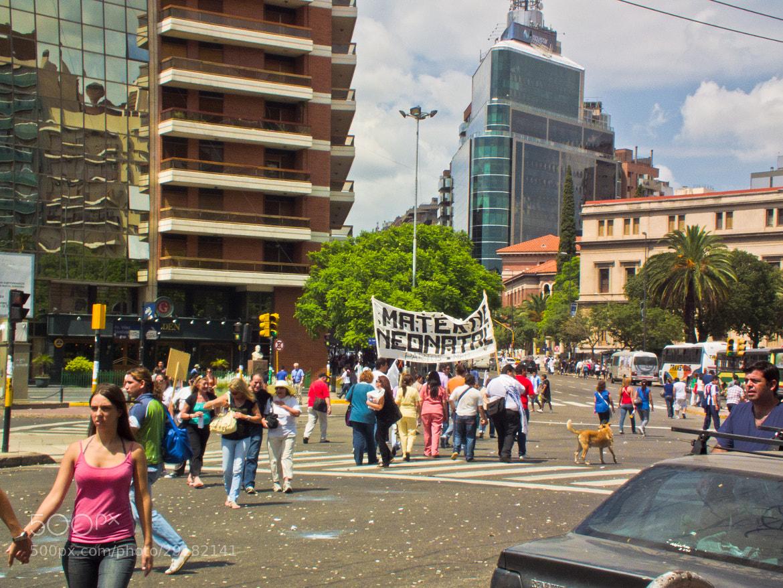 Photograph Protest march by glenn bemont on 500px