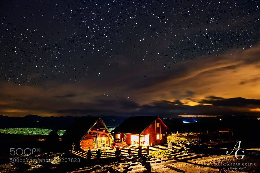 Night on the plains of Jezerska Površ (Lakes Plateau) on Durmitor mountain, as clouds of the incoming low pressure approach
