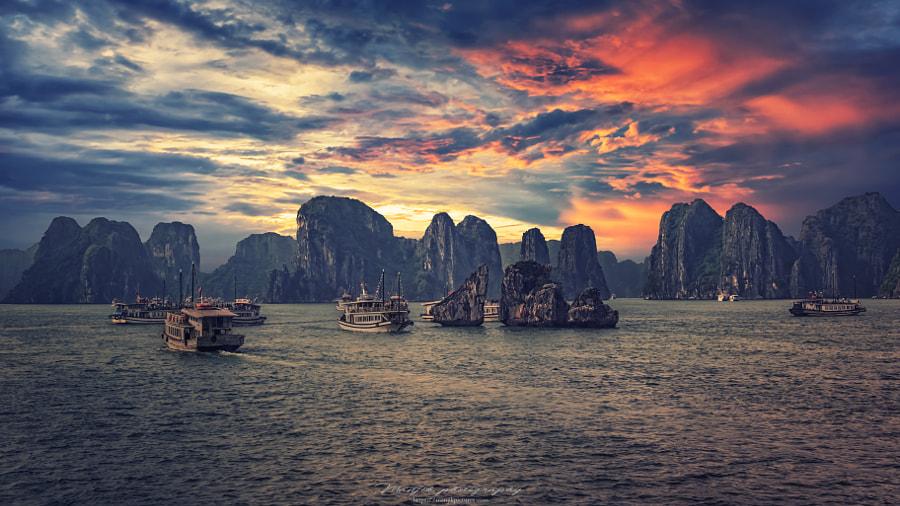 Halong evening by Manjik photography on 500px.com