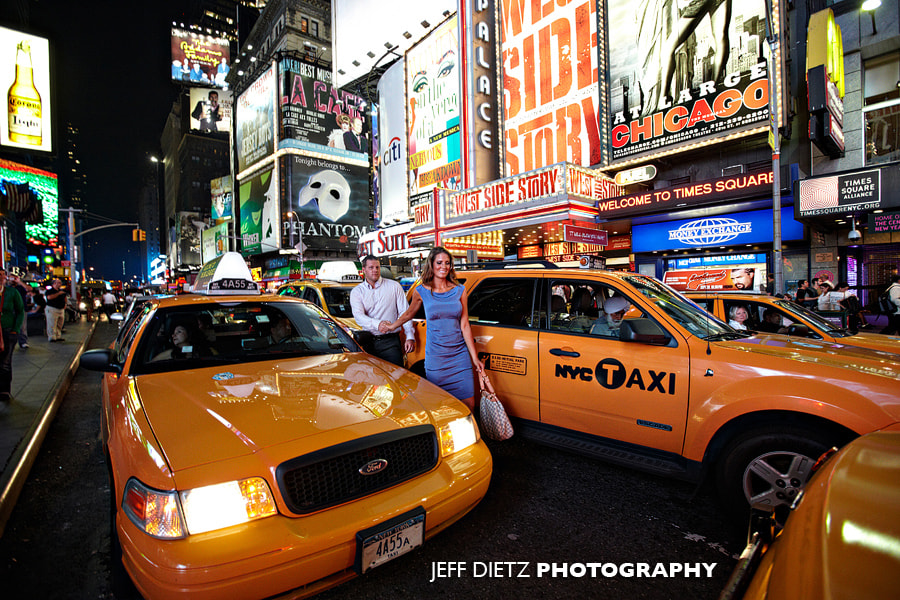 Photograph Times Square Engagement Photos by Jeff Dietz on 500px