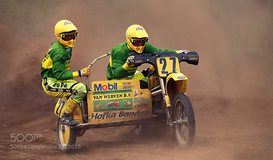 Dutch sidecar motocross back in the 19th Century :-), June 1998. 