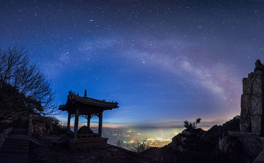 Photograph Milky way in rosy dawn by Song Hongxiao on 500px