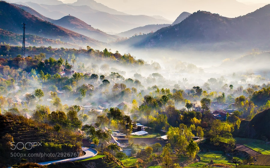 Photograph Mountain Village  by Yifei Wang (王一非) on 500px
