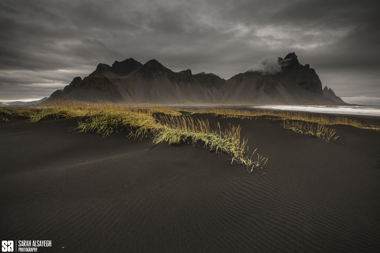 Photograph Iceland - The Black Sand In Vesturhorn Mountain by Sarah Alsayegh on 500px