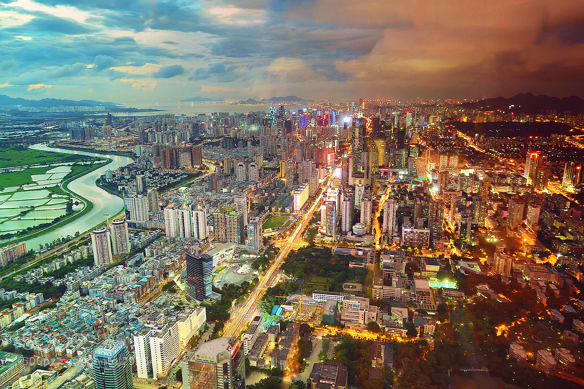 Photograph Day and Night Shenzhen by Henry Wang on 500px