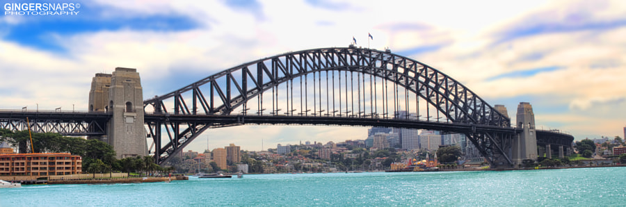 Australian Sydney Harbour bridge by day