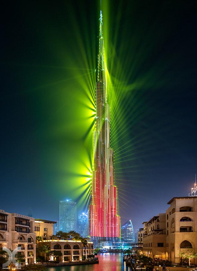 Burj Khalifa Aurora by Daniel Cheong on 500px.com