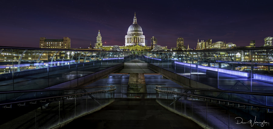 Blue Hour at Millennium Bridge by Drew Warmington on 500px.com