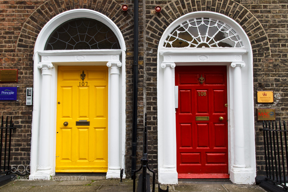Photograph Georgian House Doorway - Yellow & Red by William Kong on 500px