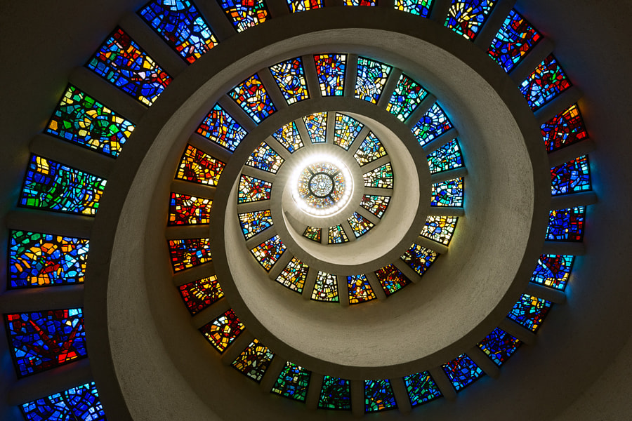 Stained Glass Spiral by C. Lambert - SubtractingTime.com on 500px.com