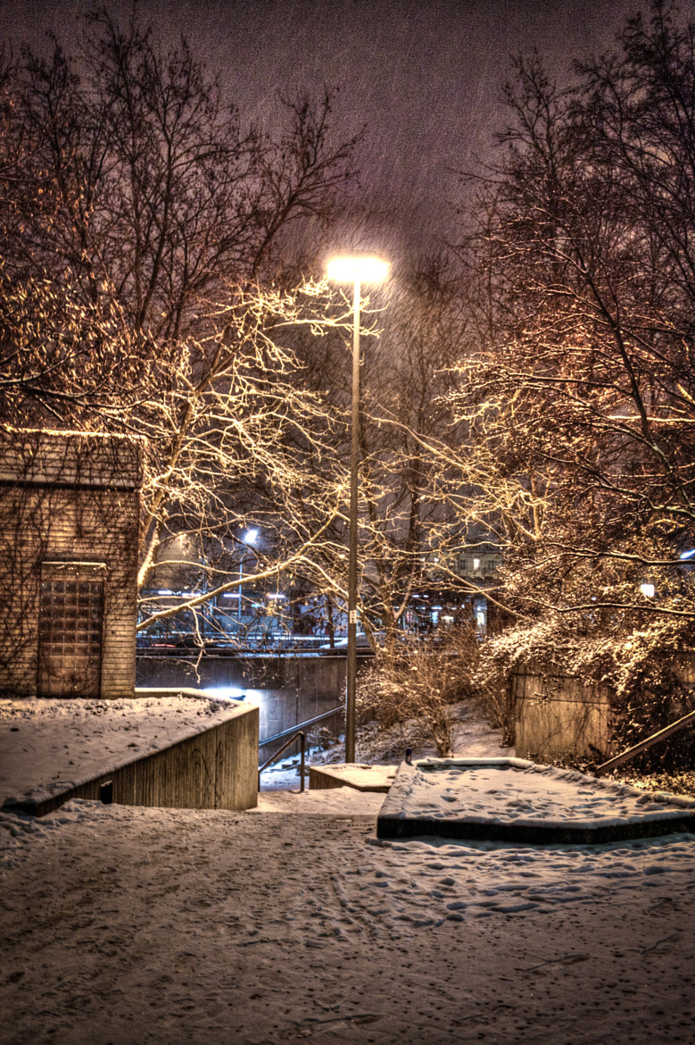 Photograph Light in snowy night by Christian Schuster on 500px