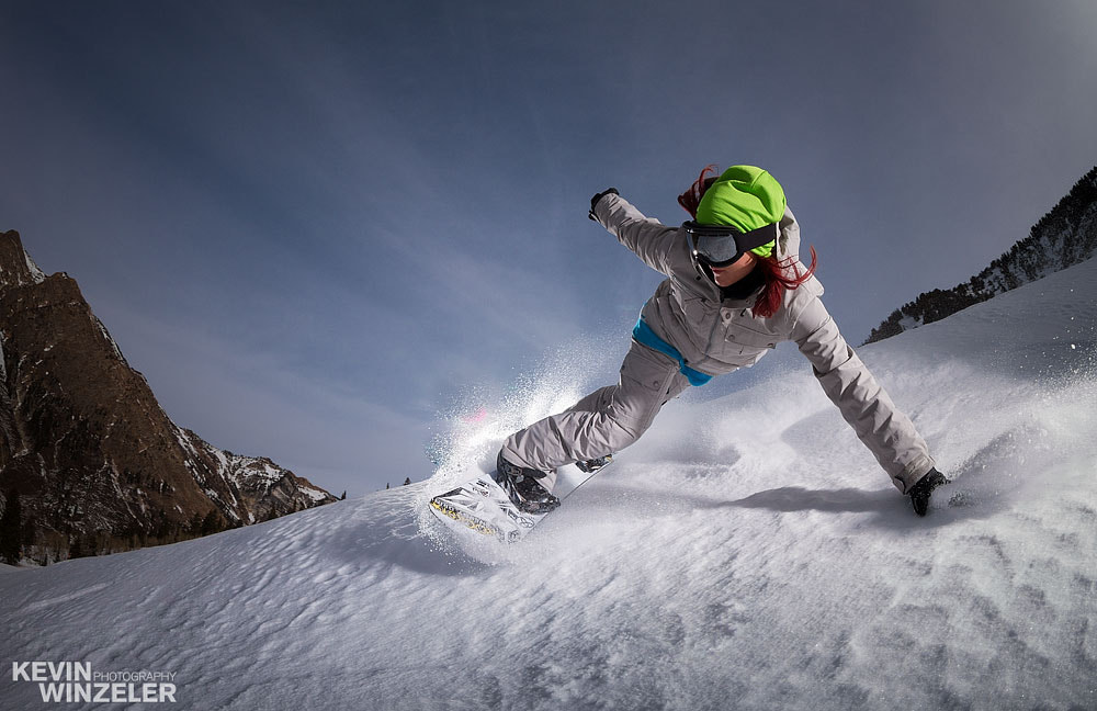 Photograph Snowboarding with Elena Hight by KevinWinzeler.com  ~ sports, lifestyle on 500px