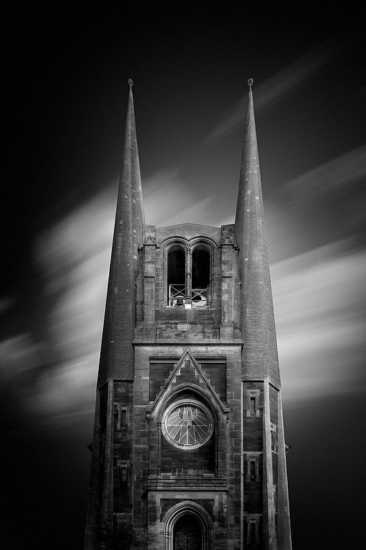 Photograph the church 03 b&w by Max Ziegler on 500px