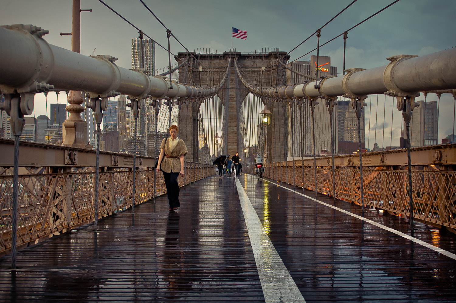 Photograph Brooklyn bridge after the rain at sunset, New York by Guillaume Gaudet on 500px