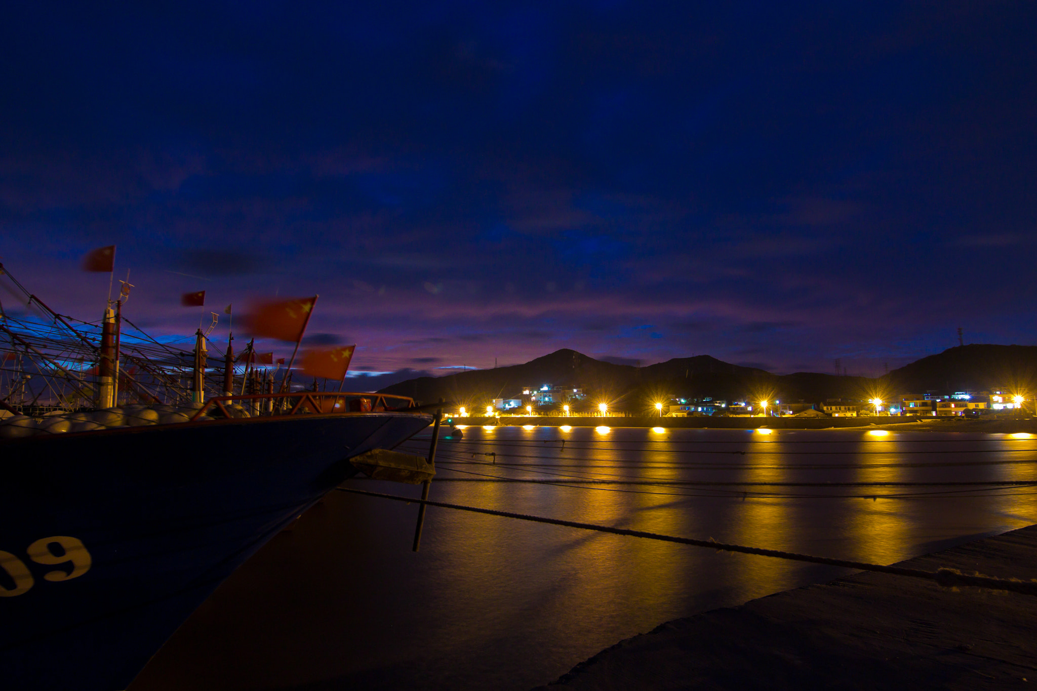 Photograph night at a fishingport by carlos-p on 500px