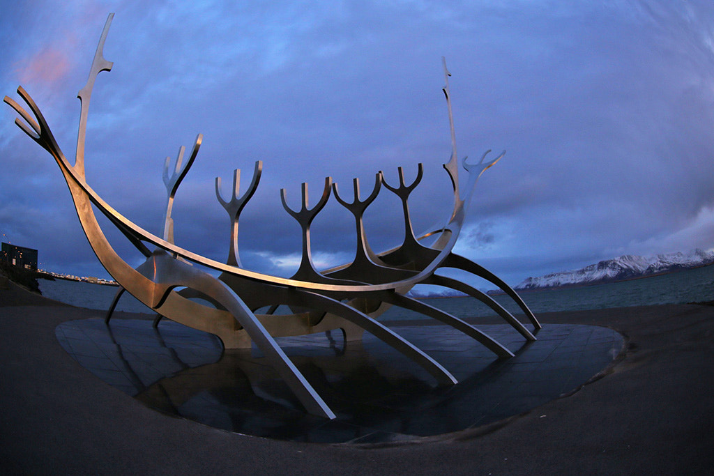 Photograph The Sun-Craft sculpture on Seabraut Drive in Reykjavik, Iceland  by Charlie Summers on 500px
