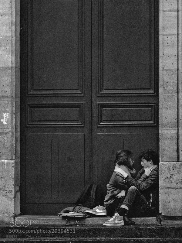 """Two student after the school.  <a href=""""http://nightgrain.tumblr.com/"""" rel=""""nofollow"""">Photoblog</a>"""