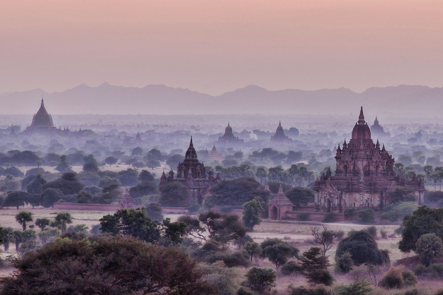 Photograph Bagan sunrise by Danish Photos on 500px