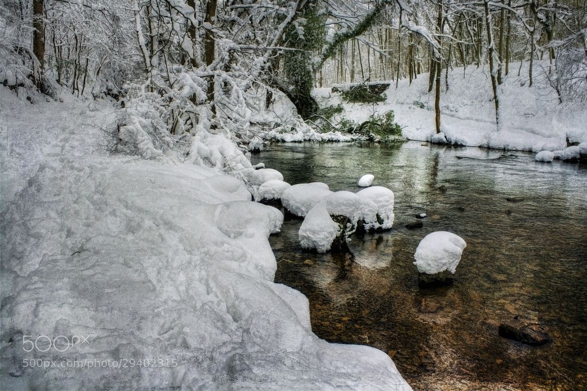 Photograph Snow on the River bank by Ian Mitchell on 500px