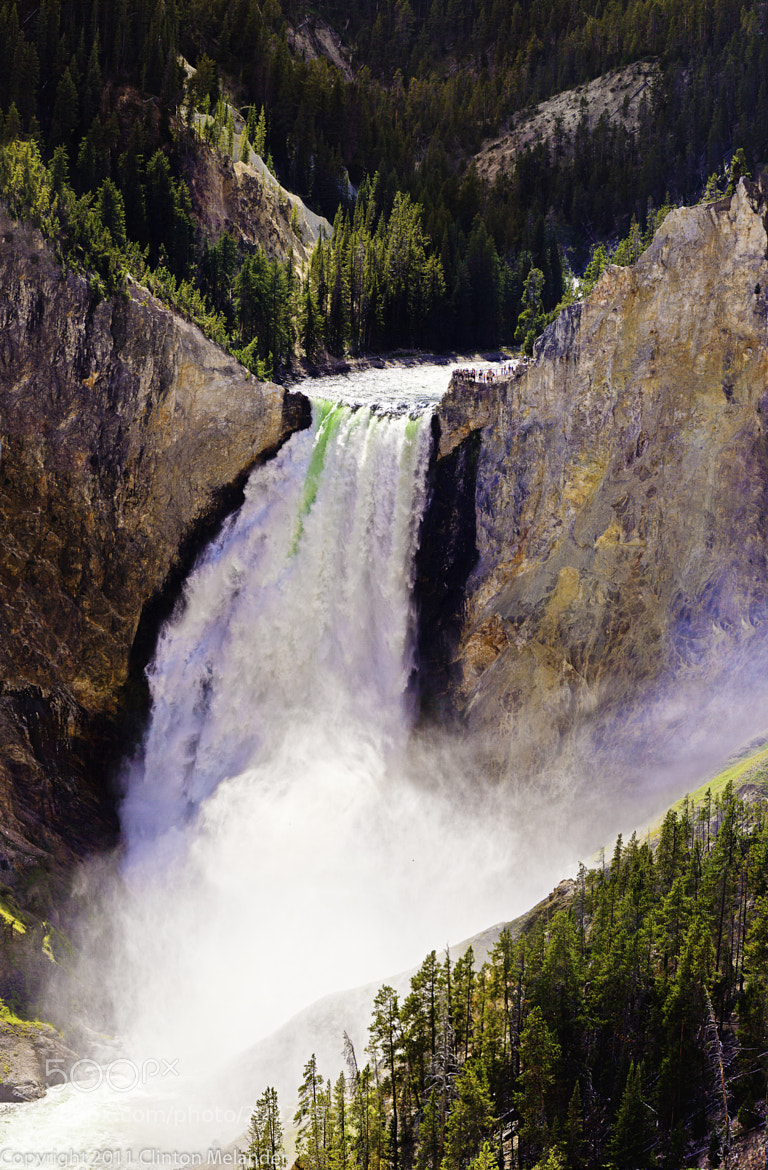 Photograph 08-07-2010 Yellowstone Canyon Water Fall 05 by Clinton Melander on 500px