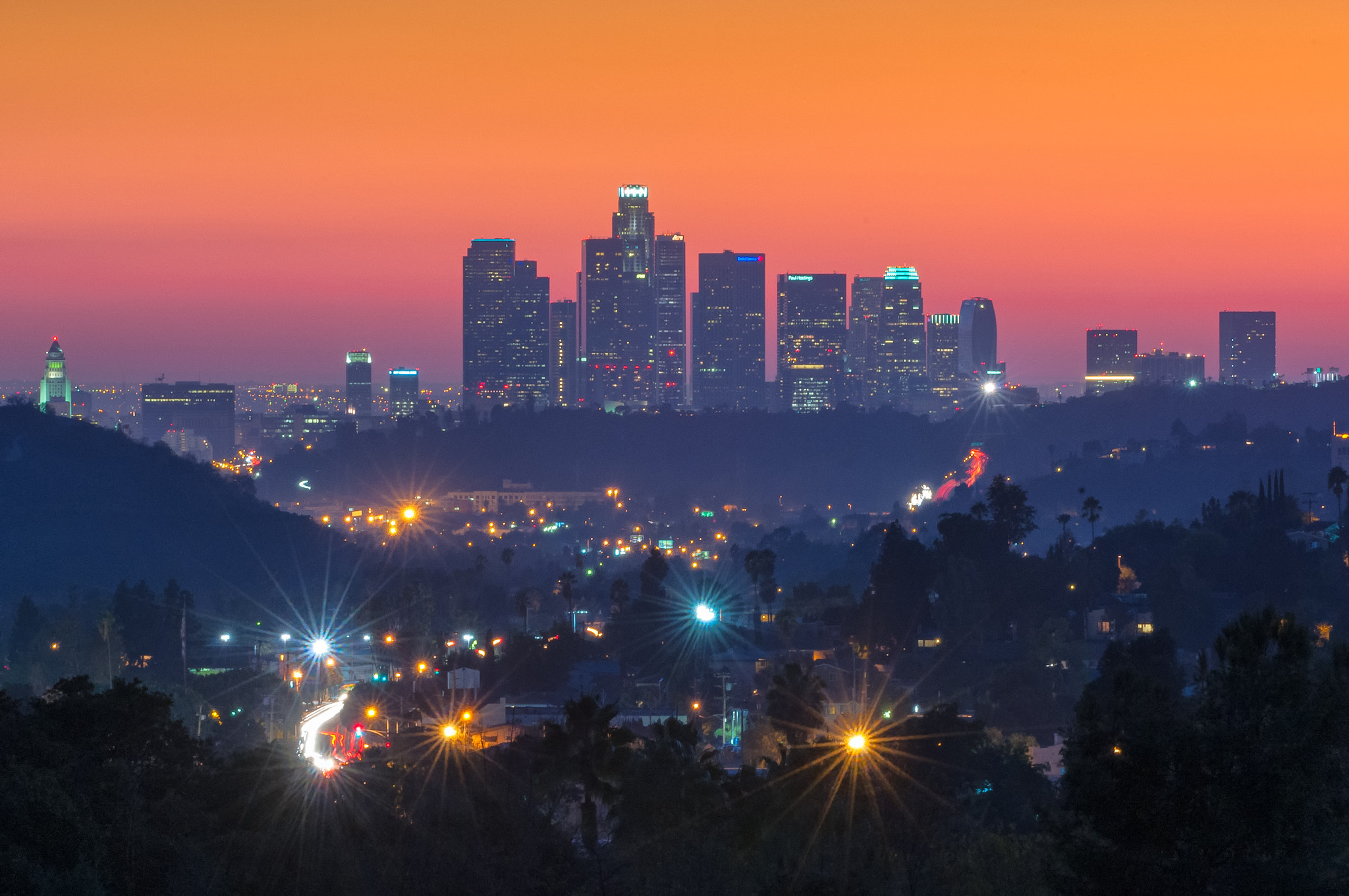 Photograph Los Angeles Skyline by Keith Skelton on 500px