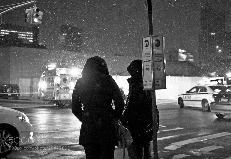 Photograph One night under the snow (QB NYC) by Nabil BACHIR-CHERIF on 500px