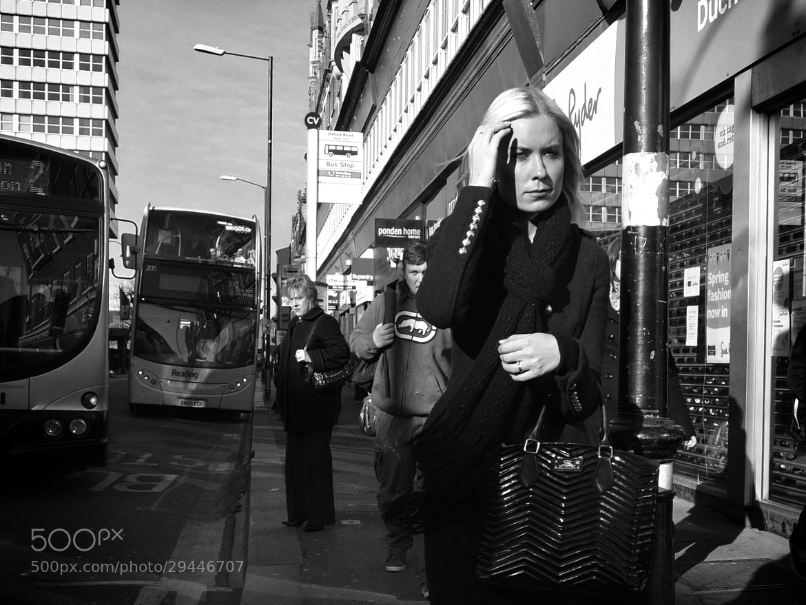 Photograph Bus Stop Girl by Mike Stone on 500px