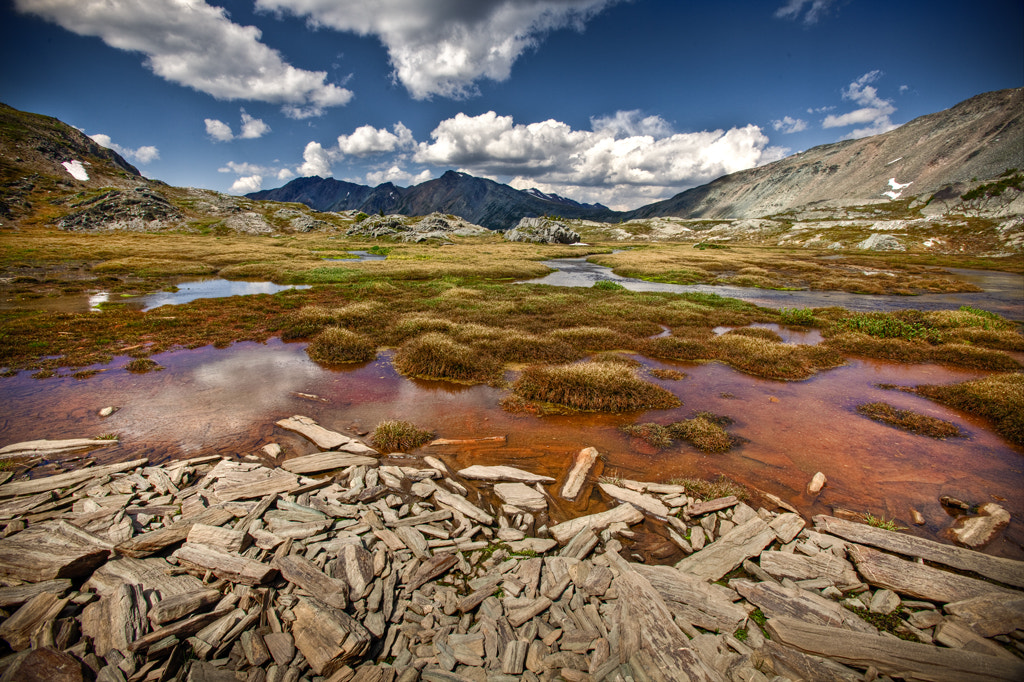 Photograph Shale Water Mountain Sky by Tony Mandarich on 500px